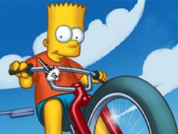 juego Simpsons Carrera en Bicicleta