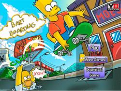 juego Bart Simpson en Patineta